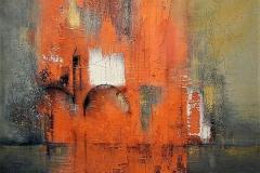 21-Tracce d'oriente - 2006 - T. mista su tela -  120x130cm