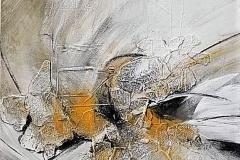 8-Rivisitazione - 2007 - t.m.ista con  collage di colore su tela  - 60x60cm