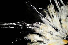 1-Notturno fiorito - 2009 - t.mista su alcantara - 120x90 cm