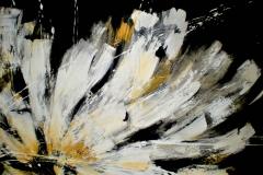 2- Notturno fiorito 2 - t.mista su alcantara -120x90 cm