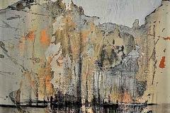 23 -Oltre la superficie - 2008 -  t.mista su tela - 50x70 cm _