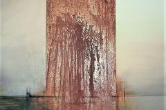 4-Abbandono - 2010 - T. mista e cor-ten - 120hx100 cm