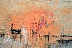 8 -.Serie degli orizzonti II - 2010 - T. mista su tavola - 50x50 cm