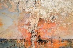 9 .Orizzonte  - 2010 - T. mista su tavola con foglia oro - 50x50 cm