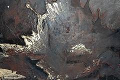 10-Incontri diversi II - 2011 -T. mista   su cor-ten - 50x50 cm