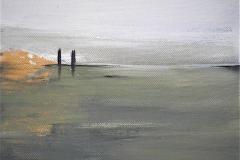 1-Serie degli orizzonti -2012 - acrilico su tela -20x20 cm