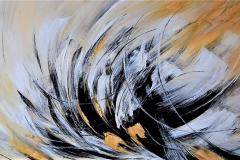 8 - e il vento passo - 2012 - acrilico su tela -180x80 cm