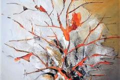 9 -Gaffiti in arancio - 2012 - T. mista  su tavola  -120x80 cm