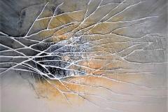 2 -Grande graffito II - 2013 - T. mista su tela - 200x180 cm