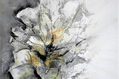 1- Armonia sofferta - 2014 - T. mista su tela  e collage - 60x70 cm