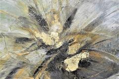 8 -Graffito su ottone - 2014 - T. mista  su tavola - 50x50 cm