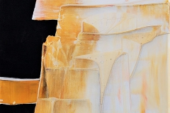 8-Vibrazioni in giallo I - Dittico  - 2016 - T. mista su tela - 40x40 cm