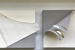 Rivisitazione 4 - 2017 - tecnica mista con raku - 30x30 x2 cm
